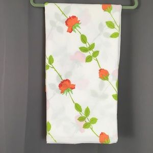 Dior Bedding - Vintage Christian Dior floral twin flat sheet